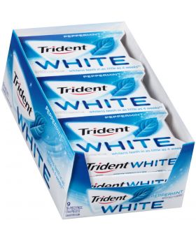 TRIDENT WHITE PEPPERMINT 9 CT