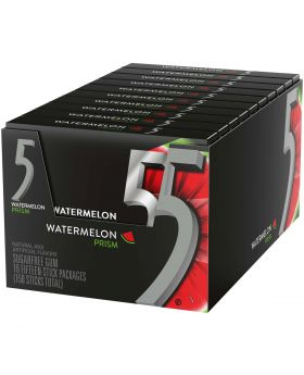 5 GUM PRISM WATERMELON 10CT
