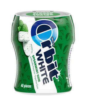 ORBIT WHITE 40PC SPEARMINT 4 JAR