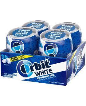 ORBIT WHITE 40PC PEPPERMINT 4JAR