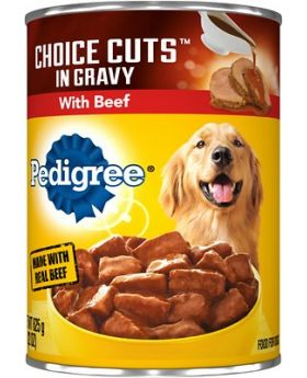 PEDIGREE BEEF IN GRAVY CANS 13.2