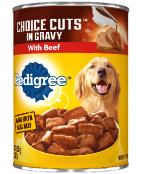 PEDIGREE BEEF IN GRAVY CANS 22OZ