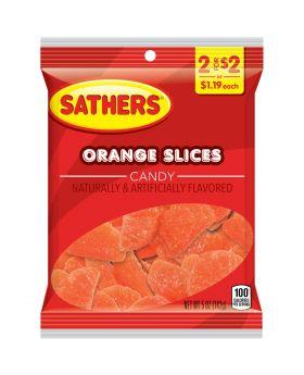 SATHER ORANGE SLICES 2F$2 12 CT