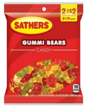 SATHER GUMMI BEARS 2FOR$2 12CT