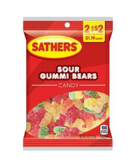 SATHER GUMMI SOUR BEARS 2F$2 12C