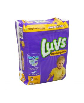 LUVS DIAPERS # 5 X-LARGE 19CT