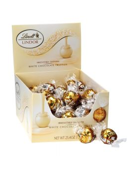 LINDT WHITE CHOCOLATE TRUFFL 60C