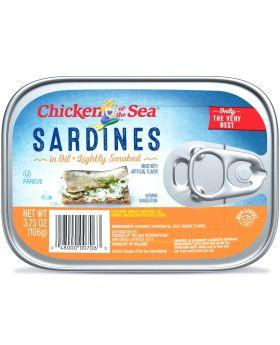 SARDINES IN OIL SMKED 3.75OZ