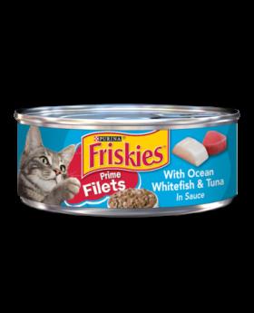 FRISKIES FILETS WHITEFISH & TUNA