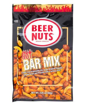 BEER NUTS HOT BAR MIX 3.25 OZ