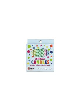 BIRTHDAY CANDLES SPIRAL 36PC12CT