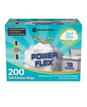 POWER FLEX TALL KITCHEN 200 BAGS