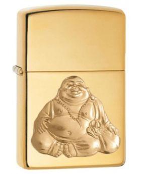 ZIPPO LIGHTER LAUGHING BUDDHA EM