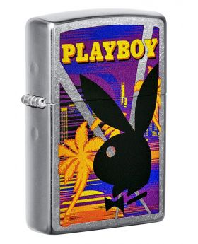ZIPPO LIGHTER PLAYBOY BLACK LOGO
