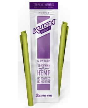 KUSH HEMP WRAPS PURPLE 15/2PK