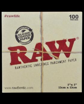 RAW PARCHMENT SQUARES 5X5 100CT
