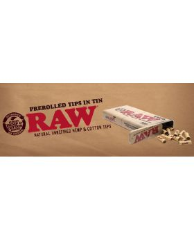 RAW TIPS PRE-ROLLED TIN 6CT