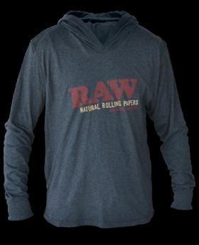 RAW AP HOODIE LW GREY/RED SM
