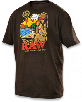 RAW AP MENS SHIRT BRAZIL BRWN MD
