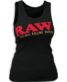 RAW AP LADIES TANK BLACK MD