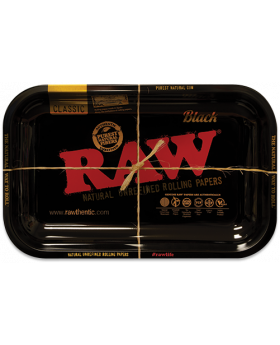 ROLLING TRAY SMALL RAW BLACK 1CT