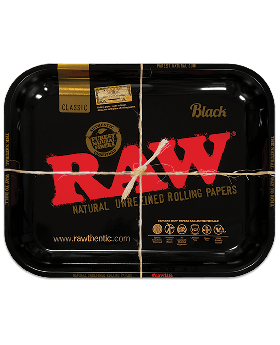 ROLLING TRAY LARGE RAW BLACK 1CT