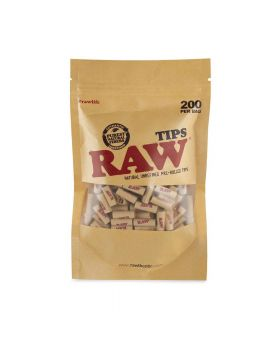 RAW TIPS PRE-ROLLED BAG 200CT