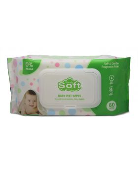 BABY WIPES SIMPLY SOFT GREEN 80C