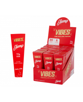 VIBES HEMP CONES 1.25 6PK 30CT