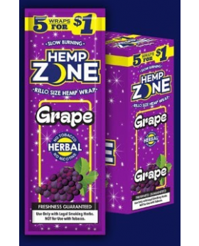 HEMP ZONE GRAPE 15/5PK WRAPS