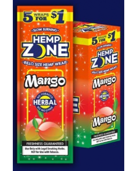 HEMP ZONE MANGO 15/5PK WRAPS