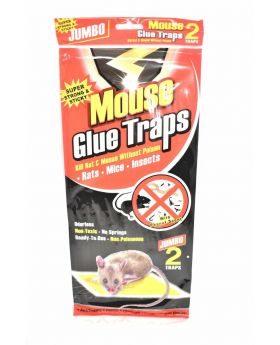MOUSE GLUE TRAPS JUMBO-SUPER 2PK