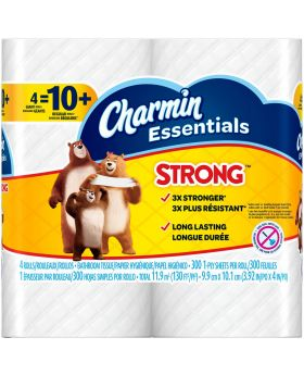 CHARMIN ESSENTIALS 4PACK 10CT
