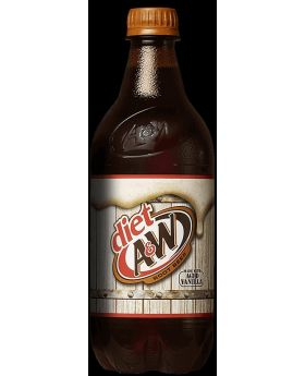 20 OZ A&W ROOT BEER DIET 24CT